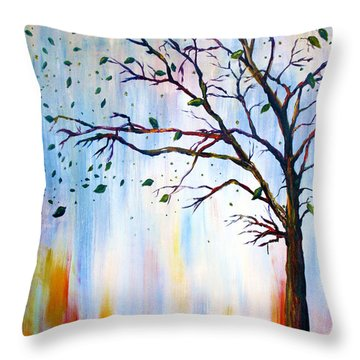 Winter Windstorm Throw Pillow