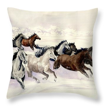 Winter Wishperer Throw Pillow by Melly Terpening