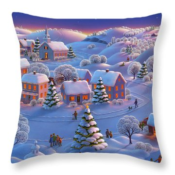 Throw Pillow featuring the painting Winter Wonderland  by Robin Moline