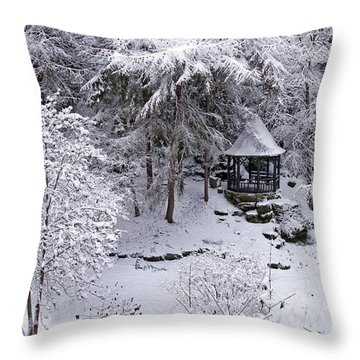 Throw Pillow featuring the photograph Winter Wonderland by Ross G Strachan