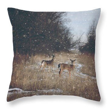 Winter Wonders Throw Pillow by Carrie Ann Grippo-Pike