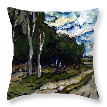 Winter Wood Throw Pillow by Charlie Spear
