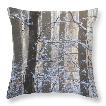 Winter Woodland Throw Pillow