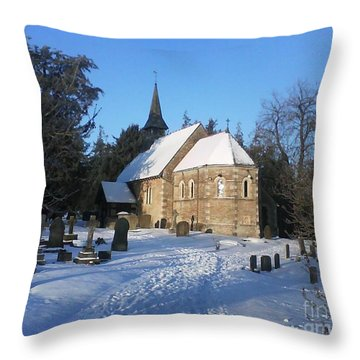 Throw Pillow featuring the photograph Winter Worship by John Williams