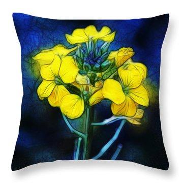 Wintercress Throw Pillow by Judi Bagwell