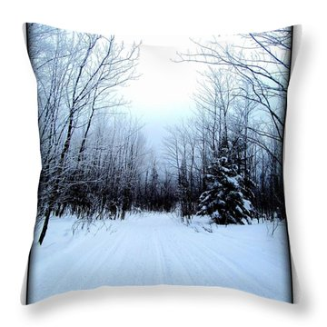 Throw Pillow featuring the photograph Winterlude In Abitibi Temiscamingue Quebec  by Danielle  Parent