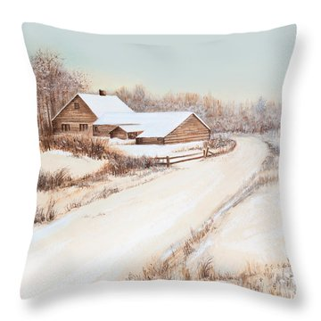 Winterness Throw Pillow by Michelle Wiarda