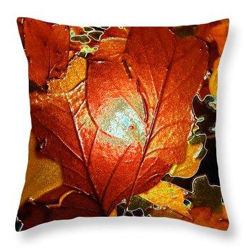winters autumn in Pasadena Throw Pillow