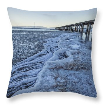 Throw Pillow featuring the photograph Winter's Bite by Mitch Shindelbower