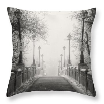 Winters Bridge Throw Pillow
