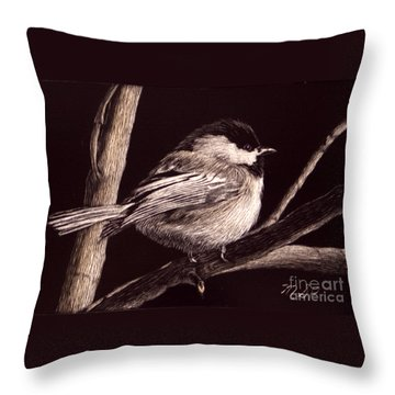 Winter's Day Throw Pillow