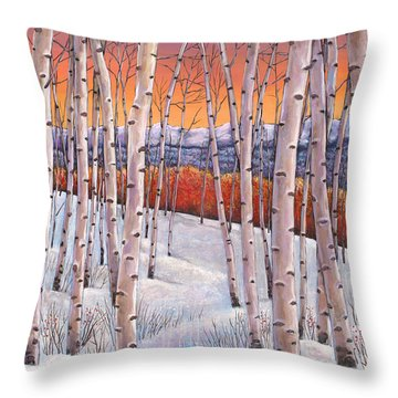 Winter's Dream Throw Pillow