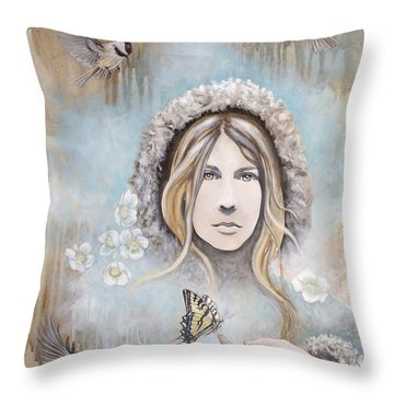 Winter's Dream Throw Pillow by Sheri Howe