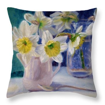 Winter's End Throw Pillow by Bonnie Mason