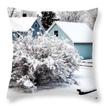 Winters First Snow Throw Pillow