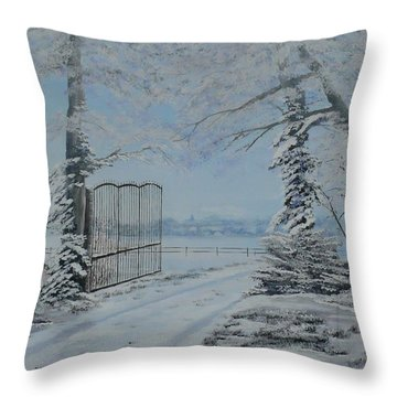 Winter's Grip Throw Pillow