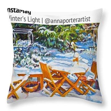 Winter's Light Throw Pillow