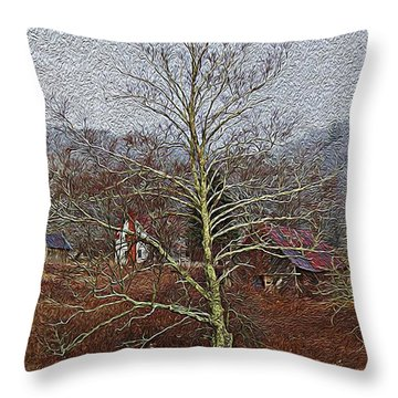 Winter's Sentinel V2 Throw Pillow