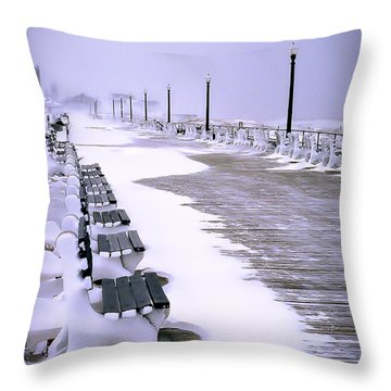 Winter's Silence Throw Pillow by William Walker