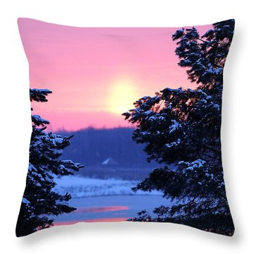 Throw Pillow featuring the photograph Winter's Sunrise by Elizabeth Winter