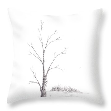 Winter's Tree Throw Pillow by Steven Powers SMP
