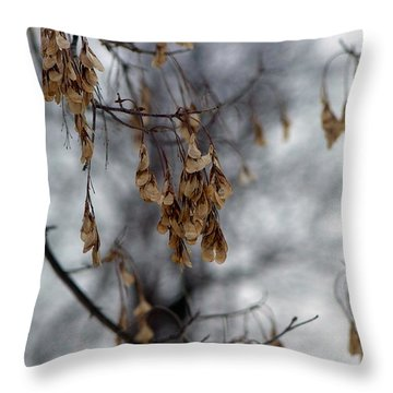 Winters Wind Throw Pillow