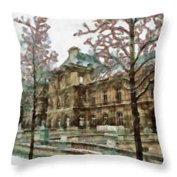 Wintertime Sadness Throw Pillow by Ayse and Deniz