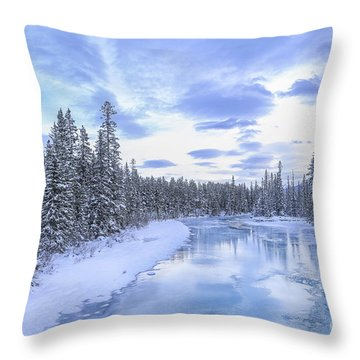 Wintery Throw Pillow