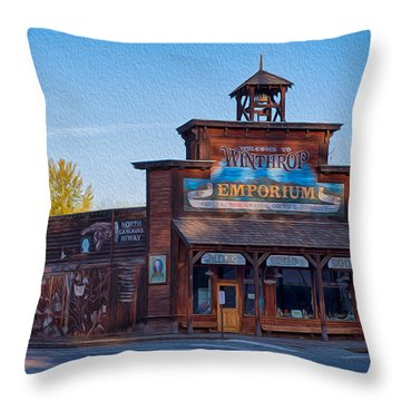 Winthrop Emporium Throw Pillow by Omaste Witkowski