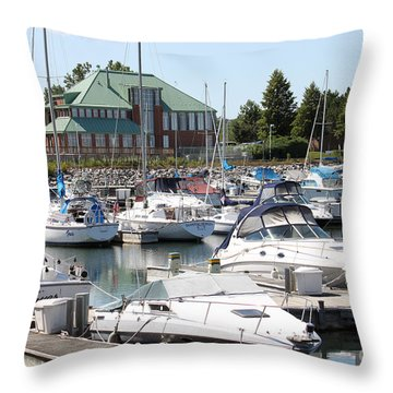 Throw Pillow featuring the photograph Winthrop Harbor by Debbie Hart