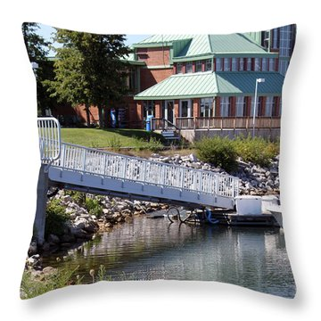 Throw Pillow featuring the photograph Winthrop Harbor Shore by Debbie Hart