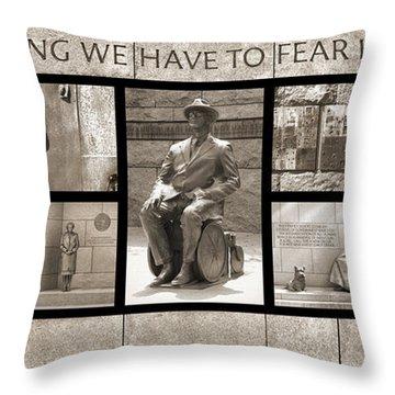 Wip - Fdr Memorial - Washington Dc Throw Pillow by Mike McGlothlen
