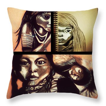 Historical Native Series Called Idle No More Throw Pillow