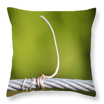 Wire On Wire Throw Pillow by Cynthia Guinn