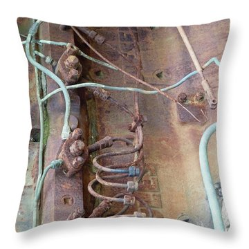 Throw Pillow featuring the photograph Wired by Newel Hunter