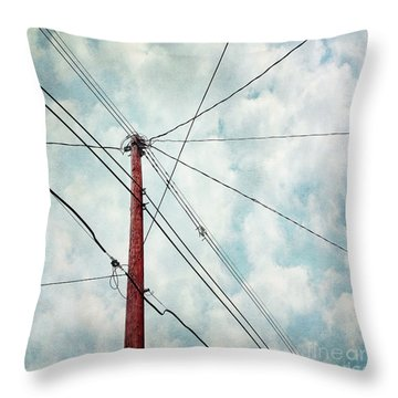 Wired Throw Pillow by Priska Wettstein