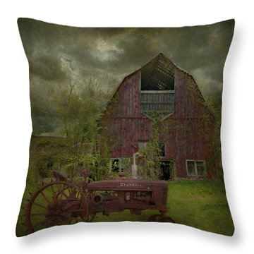 Wisconsin Barn 3 Throw Pillow