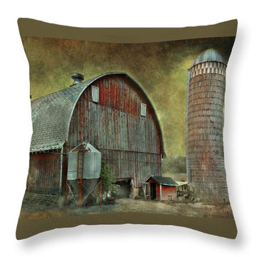 Wisconsin Barn - Series Throw Pillow