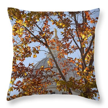 Wisconsin Capitol Throw Pillow