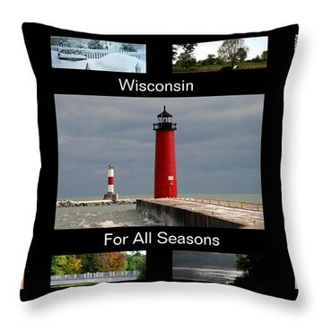 Throw Pillow featuring the photograph Wisconsin For All Seasons by Kay Novy