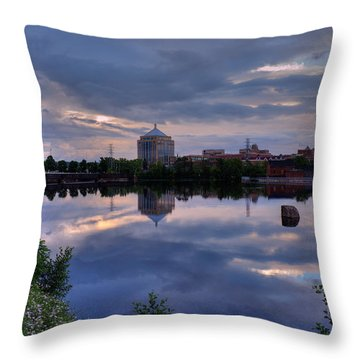 Wisconsin River Reflection Throw Pillow