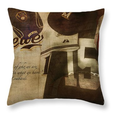 Wisconsin Sports Throw Pillow