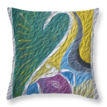 Wisdom And Peace I Throw Pillow