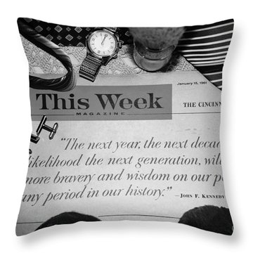 Wisdom Throw Pillow by Beverly Ann Shelby