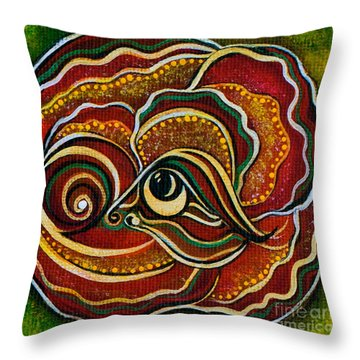 Throw Pillow featuring the painting Wisdom Spirit Eye by Deborha Kerr