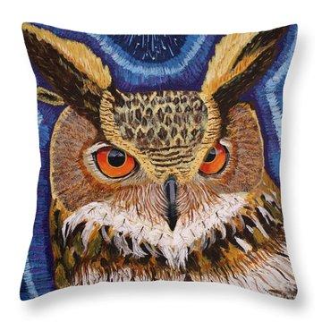 Wisdom Throw Pillow by Vicki Maheu