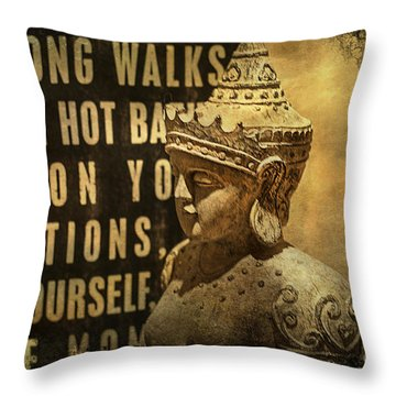 Wise Advisor Throw Pillow