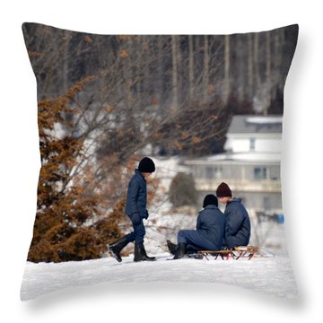 Throw Pillow featuring the photograph Wise Counsel by Linda Mishler
