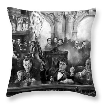 Wise Guys Throw Pillow