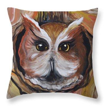 Wise Ole Owl Throw Pillow